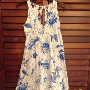 Lily Pulitzer Summer V-Neck, And Tie in back Dress